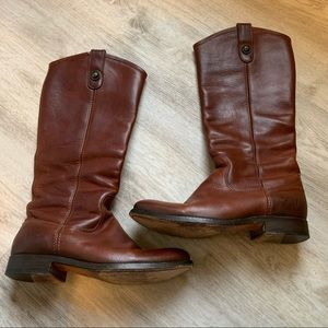 Frye Melissa Tall Brown Boots, Size 7